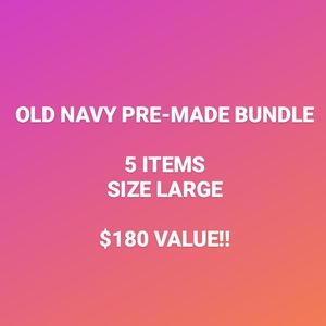PRE-MADE OLD NAVY BUNDLE (5 ITEMS, SIZE LARGE)
